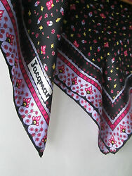 Vintage Jacqmar of London Silk Hand Rolled Hem Scarf BUY ANY 5 ITEMS = FREE POST
