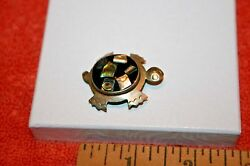 Vintage Marked Mexico & Silver & Abalone Turtle Pin Brooch