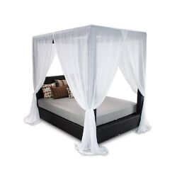 Patio Heaven Signature Patio Canopy Bed in Espresso-Midnight Black