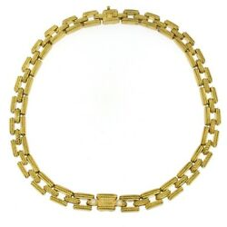 Judith Ripka Chainlink Necklace with Diamonds 18kt Yellow Gold 50 Grams