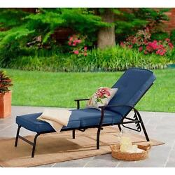 Blue Cushion Pads Outdoor Lounge Chairs Patio Furniture Sectional Durable Blue