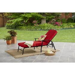 Blue Cushion Pads Outdoor Lounge Chairs Patio Furniture Sectional Durable Red
