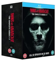 Sons Of Anarchy: Complete Series 1 2 3 4 5 6 7 [Blu-ray Box Set Region Free]