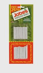 50 pk Jobe#x27;s Fertilizer Spikes For House Plants Flowers Indoor 13 4 5 New 05301T $6.59
