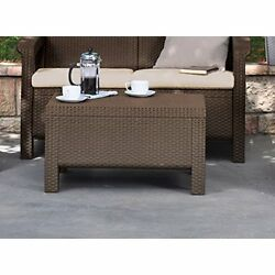 Luxury Durable Coffee Table Outdoor Patio Garden Pool Lightweight Furniture New
