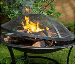Fire Bowl Pit Outdoor Patio 30 inch Steel Wood Burning Heater Backyard Firepit