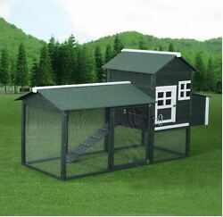 Chicken Coop Kits and Run Hen House Poultry Rabbit Pet Hutch Outdoor Backyard