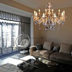 Elegant Large Crystal 10 Candle Arm Chandelier Luxury Pendant Ceiling Lamp $103.77