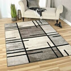 RUGS AREA RUGS CARPETS 8x10 RUG FLOOR MODERN GREY LARGE BEDROOM GRAY COOL RUGS $229.00