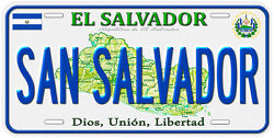 El Salvador Aluminum Any Name Personalized Novelty Car License Plate $17.90