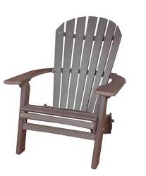 Phat Tommy Recycled Poly Resin Folding Deluxe Adirondack Chair in Bro [ID 37434]