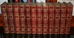 MAGNIFICENT 12 VOLUMES OF THE WORKS OF 'GAUTIER' LEATHER BIND BOOKS 31000