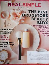 REAL SIMPLE MAGAZINE MARCH 2016 RIGHT SKIN CARE PRODUCTS PULL OFF CAREER PIVOT