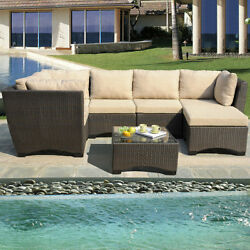 W Unlimited Garden Patio Deep Seating Group with Cushions