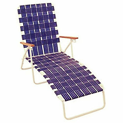 Chaise Lounge Outdoor Chair High Back Seat Comfortable Beach Patio Folding Yard