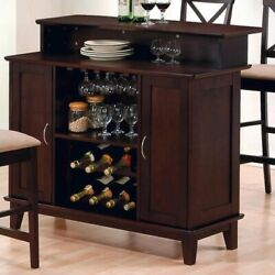 Coaster Hyde Contemporary Home Bar in Rich Cappuccino Finish $690.06