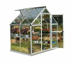 Harmony 6 ft. x 4 ft. Polycarbonate Greenhouse Silver Grow Plant Garden Outdoor