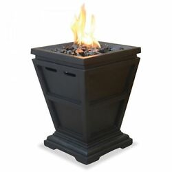 Outdoor Gas Fire Pit DIY Small Propane Gas Fireplace Patio Heater Electric Deck