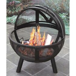 Ball of Fire Steel Bowl Fire Pit Patio Heater Deck Fireplace Wood Fuel Portable