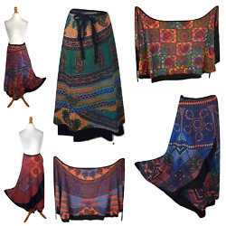 Wrap Around Skirt Reversible High Quality Rayon Double Layer 8 10 12 14 16 18 20 $27.51