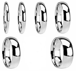 Mens and Womens Stainless Steel High Polish Wedding Band Comfort Fit Ring $6.99