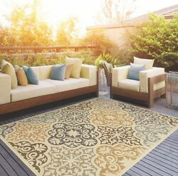 Home Patio Area Rug For Indoor Outdoor Synthetic Carpet Decor 8'6