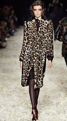Tom Ford Runway Leopard Print Dyed Fur Coat New!!  Price Dropped $800!!