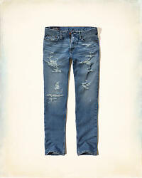 Hollister Slim Straight Jeans 100% Authentic Brand New With Tags RRP £69