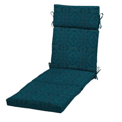 Chaise Lounge Cushion Patio Chair Replacement Pool Outdoor Blue Deck Polyester
