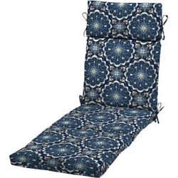 Chaise Lounge Cushion Patio Garden Navy Blue Chair Replacement Pool Outdoor Deck