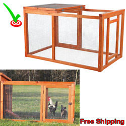 Chicken Coop Kits Outdoor Rabbit Pet Cage Backyard Farmer Pen Run Home