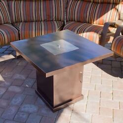 Patio Fire Pit Table Outdoor Gas Fireplace Propane Heater Backyard Furniture New