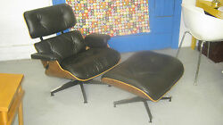 Authentic Eames Herman Miller Lounge Chair And Ottoman- Mid- Century