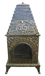 Aztec Allure Cast Iron Chiminea Pizza Oven [ID 70526]