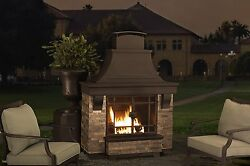 Fireplace Home Outdoor Patio Backyard Fire Pit Deck Heater Burning Wood Logs
