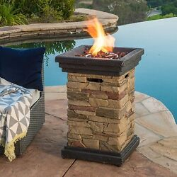 Portable Fire Pit Outdoor Gas Fireplace Backyard Party Games Propane Heater New