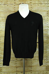 NEW Versace Collection Mens Sz S Sweater Black Wool Pullover Medusa Gianni
