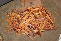 Huge lot of 15-12 pounds Lincoln Logs to build a log cabin Free US sHIP