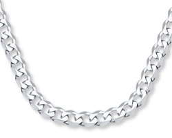 ITALY 925 SOLID Sterling Silver CURB Chain Necklace or Bracelet 7