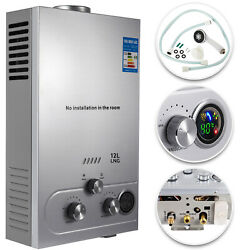 Natural Gas Hot Water Heater 12L Tankless Instant Boiler 3.2 GPM Digital Display $89.89
