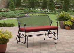 Patio Glider Swing Wrought Iron Metal Bench Outdoor Furniture Front Porch Rocker