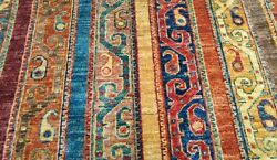 Exclusive Natural Dyes 10x13ft Wool Pile Vintage Shawl Patterned Rug Must See