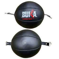 BUKA ®Leather Double End Bag Boxing Floor to Ceiling Speed Ball Punching Bag MMA $29.99