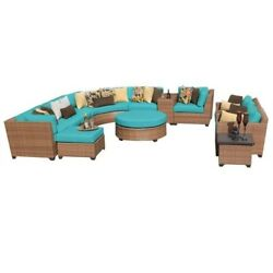 TKC Laguna 12 Piece Outdoor Wicker Sofa Set in Aruba