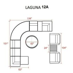 TKC Laguna 12 Piece Outdoor Wicker Sofa Set in Cilantro