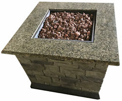 Deeco Stone Table Gas Fire Pit