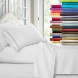 Egyptian Comfort 1800 Count 4 Piece Bed Sheet Set Deep Pocket Bed Sheets $22.99