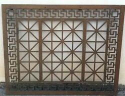 Atq Rare Greek Revival Window Guard Grille Grate Architecture Salvage 42