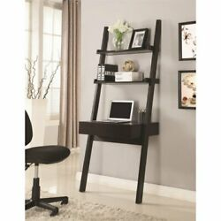 Coaster Colella Wall Leaning Ladder Writing Desk in Cappuccino $152.86