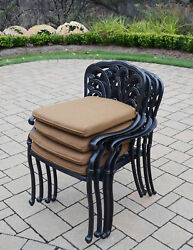 Darby Home Co Bosch Stacking Patio Dining Chair with Cushion Set of 4